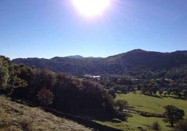 Hills above Grasmere village