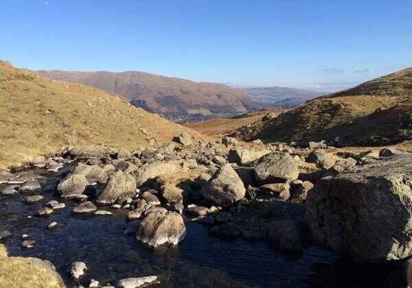 View from Easedale Tarn back to Grasmere